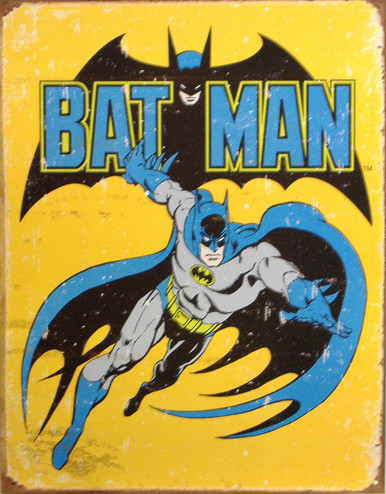 BATMAN RETRO SIGN ONE OF THE MOST POPULAR OLD SCHOOL BATMAN SIGNS