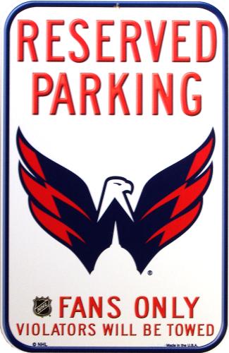 WASHINGTON CAPITALS HOCEKY RESERVED PARKING SIGN