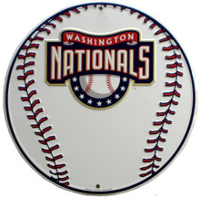 WASHINGTON NATIONALS ROUND BASEBALL SIGN