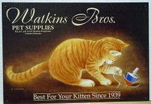WATKINS BROS  CAT WITH TOP SIGN