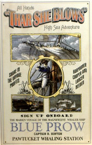 WHALING POSTER SIGN
