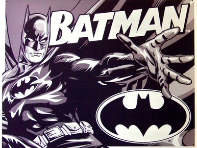 Photo of BATMAN DUO-TONE SIGN, GREAT BLACK AND WHITE GRAPHICS
