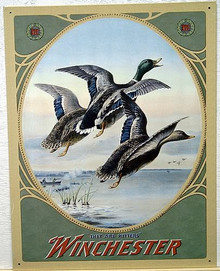 Photo of WIN. THREE MALLARDS OLD FASHION WINCHESTER ADVERTISEMENT MAKES THIS A GREAT COLLECTORS ITEM