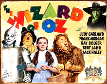 Photo of WIZARD OF OZ  70TH ANNIVERSARY THIS RETRO MOVIE POSTER SIGN HAS RICH COLORS AND GREAT DETAIL