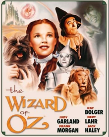 """Photo of WIZARD OF OZ  """"CREW"""" THIS COLORFUL SIGN HAS ALL THE MAIN CHARACTERS EVEN THE GOOD AND BAD WITCHES!"""