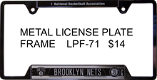 NEW YORK NETS METAL BASKETBALL LICENSE PLATE FRAME