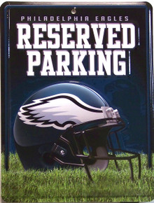 "METAL FOOTBALL SIGN, 8 1/2"" w X 11"" h  WITH HOLE(S) FOR EASY MOUNTING   GREAT SIGN FOR THE PHILADELPHIA EAGLES FAN'S COLLECTION, SUPER COLOR AND GRAPHICS"