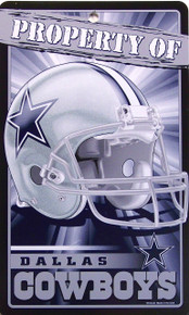 "DURABLE PLASTIC FOOTBALL SIGN,  7  1/4"" w X 12"" h WITH HOLE(S) FOR EASY MOUNTING  GREAT SIGN FOR THE DALLAS COWBOY FOOTBALL FAN'S COLLECTION, THIS SIGN HAS GREAT COLOR AND DETAILS"
