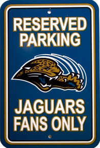 "HEAVY DUTY DURABLE PLASTIC FOOTBALL SIGN, 10 3/4"" w X 16 1/2"" h WITH HOLE(S) FOR EASY MOUNTING   GREAT SIGN FOR THE JACKSONVILLE JAGUARS FAN'S COLLECTION, THIS SIGN IS OUT OF PRODUCTION"