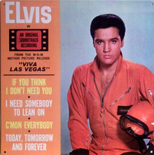 "A METAL COPY OF HIS ALBUM COVER FROM ""VIVA LAS VEGAS"" GREAT COLOR AND DETAIL"