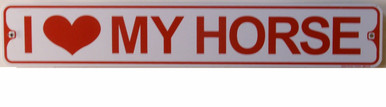 """SMALL STREET SIGNS WITH HOLES IN EACH END FOR EASY HANGING  MEASURES 18"""" W X 3"""" H"""