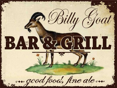 Vintage Enamel sign great for the goat lovers collection!