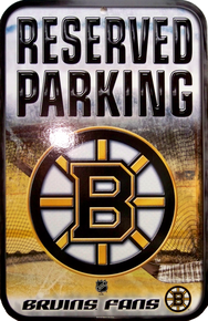 BOSTON BRUINS HOCKEY SIGN HAS GREAT CONTRAST AND COLOR FOR THE BOSTON BRUINS FAN'S COLLECTION