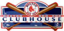 "Photo of BOSTON RED SOX BASEBALL ""CLUBHOUSE"" SIGN HAS SUPER COLOR AND DETAILS A GREAT ADDITION TO ANY RED SOX FAN'S COLLECTION"