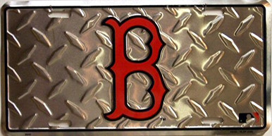 Photo of BOSTON RED SOX DIAMOND PLATE, LICENSE PLATE