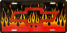 Photo of BOWTIE WITH FLAMES METAL LICENSE PLATE