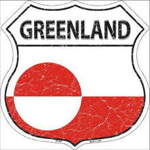 "COUNTRY FLAG HIGHWAY SHIELD, CRACKLE PAINT,  FOR A WEATHERED LOOK, ON FLAT ALUMINUM METAL SIGN  12"" X 12"" COLLECT EACH COUNTRY YOU LIKE OR HAVE VISITED!   THIS IS A SPECIAL ORDER SIGN IT NORMALY TAKES 3-4 WEEKS FOR DELIVERY If you are ordering from outside the U.S. consider  asking your friends to order signs also, it is less expensive for extra signs than for the first sign, split the shipping cost, it makes ordering more affordable. Actually, the same is true for Domestic shipping as well."