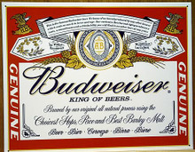 Photo of BUDWEISER BEER LABEL, GREAT COLOR AND CRISP DETAILS