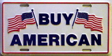 Photo of BUY AMERICAN LICENSE PLATE