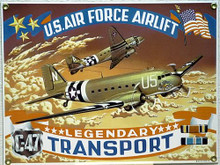 Photo of C47 TRANSPORT, PORCELAIN SIGN, GREAT COLORS AND SUPER DETAILS
