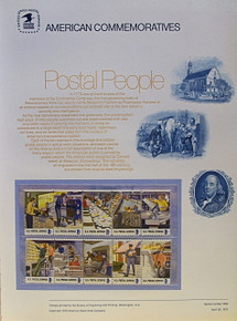 """PANEL # 14, U.S. COMMERATIVE PANEL POSTAL EMPLOYEES.., ISSUED 4/30/1973 SCOTT # 1489-1498, PRINTED ON HEAVY PAPER MEASURING 8  1/2""""  X  11  1/4"""" WITH 10 DIFFERENT UNUSED POSTAL EMPLOYEES, 8 CENT STAMPS  PANELS ISSUED BY U.S. BUREAU OF ENGRAVING REPRESENT MANY HISTORICAL EVENTS IN OUR COUNTRY PLUS CULTURAL, WILDLIFE, FLORAL, MUSICAL, MOVIES AND COUNTLESS OTHER SUBJECTS, GREAT FOR  COLLECTORS AND ENTHUSIAST OF A WIDE VARIETY OF INTEREST. GREAT TO FRAME FOR GIFTS! UP TO A DOZEN CAN BE SHIPPED USING PRIORITY MAIL FLAT RATE ENVELOPE, FOR THE PRICE OF ONE (REFUND GIVEN AFTER PANELS ARE SHIPPED TAKES 3-4 DAYS FOR REFUND TO REACH YOUR CARD) OR YOU CAN SEND ONE OR MORE, FIRST CLASS (NOT INSURED) FOR LESS, YOUR CHOICE."""