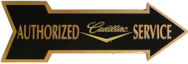 CADILLAC SERVICE METAL ARROW SIGN, GREAT COLOR AND DETAILS