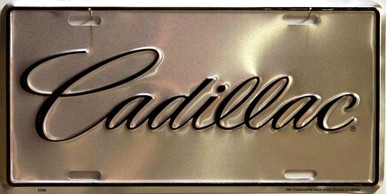 Photo of CADILLAC SILVER LICENSE PLATE
