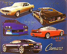 Photo of CAMARO GENERATIONS SHOWS EXCELLENT PHOTOS OF FOUR DIFFERENT GENERATIONS OF CAMAROS, GREAT FOR YOUR COLLECTION