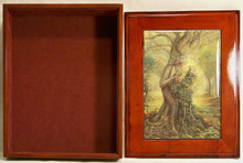 "THE DRYAD & TREE SPIRIT JEWELRY BOX WITH LID THAT CAN BE DISPLAYED ON WALL  ART DESIGNS BY JOSEPHINE WALL  A POPULAR ENGLISH FANTASY ARTIST. THIS JEWELRY BOX CAN BE USED IN SEVERAL DIFFERENT WAYS. THE LID CAN BE USED PICTURE UP OR WORDS UP OR CAN BE HUNG ON THE WALL, USING THE EYELETS PROVIDED THE CASE ITSELF IS FELT LINED  AND WITH LID  MEASURES 8 5/8"" X 6 13/16"" X 3 1/2"""