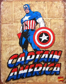 Photo of CAPTAIN AMERICA RETRO, SUPER HERO SIGN, WITH GREAT DETAILS AND COLORS