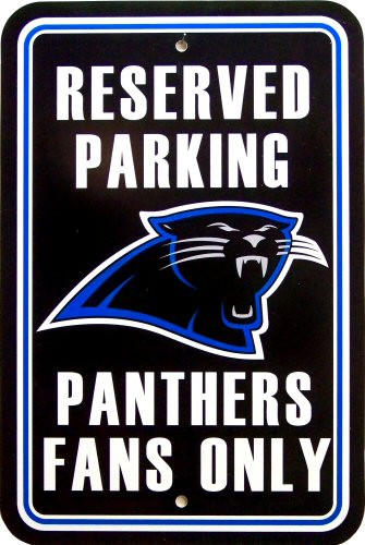 Photo of CAROLINA PANTHERS FOOTBALL FAN PARKING SIGN, GREAT COLORS AND ATTENTION TO DETAIL