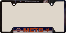 "NEW YORK METS METAL LICENSE PLATE FRAME MEASURES 12 1/4"" X 1/4"" X 6 1/4"""