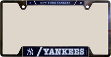 "NEW YORK YANKEES METAL LICENSE PLATE FRAME MEASURES 12 1/4"" X 1/4"" X 6 1/4"""