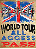 "DEF LEPPARD VINTAGE TIN SIGN MEASURES 12"" X 15"" WITH HOLES FOR EASY MOUNTING"
