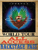 """JOURNEY ALL ACCESS VINTAGE TIN SIGN MEASURES 12"""" X 15"""" WITH HOLES FOR EASY MOUNTING"""