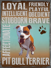"PITBULL VINTAGE ENAMEL SIGN ON HEAVY METAL MEASURES 12"" X 16"" AND HAS HOLES IN EACH CORNER FOR EASY MOUNTING"