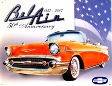 Photo of CHEVY BEL AIR 50TH ANNIVERSARY SIGN 1957 - 2007 RICH COLOR GREAT GRAPHICS