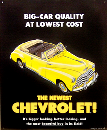 Photo of CHEVY MOST BEAUTIFUL BUY OF ALL CAR SIGN, GREAT DETAI, RICH COLOR THIS SIGN IS OUT OF PRINT AND I HAVE BUT ONE LEFT