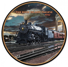 """HEAVY METAL VINTAGE  (SUBLIMATION PROCESS) SIGN MEASURES 14"""" DIAMETER WITH HOLES FOR EASY MOUNTING  WEIGHS APOX. 2 POUNDS  THIS IS A SPECIAL ORDER SIGN, NORMALLY TAKES 2-4 WEEKS FOR DELIVERY."""