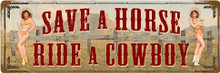 """HEAVY METAL VINTAGE SIGN (SUBLIMATION PROCESS)  MEASURES 8"""" X 24"""" WITH HOLES IN EACH CORNER FOR EASY MOUNTING  WEIGHS APOX. 2 POUNDS  THIS IS A SPECIAL ORDER SIGN, NORMALLY TAKES 2-4 WEEKS FOR DELIVERY.  CORNERS RUSTED FOR ANTIQUED LOOK."""