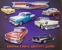 Photo of CHEVY SPOTTER GUIDE HELPS ONE SEE THE DIFFERENCES BETWEEN THE 55, 56 AND 57'S FRONT AND BACK GREAT COLOR EXCELLENT DETAIL