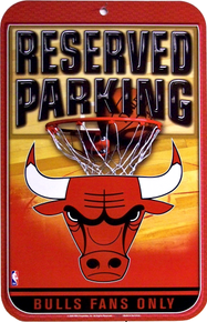 Photo of CHICAGO BULLS PARKING ONLY SIGN GREAT COLORS AND GRAPHICS