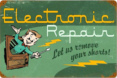 """HEAVY METAL VINTAGE SIGN (SUBLIMATION PROCESS)  MEASURES 18"""" X 12"""" WITH HOLES IN EACH CORNER FOR EASY MOUNTING  WEIGHS APOX. 2 POUNDS  THIS IS A SPECIAL ORDER SIGN, NORMALLY TAKES 2-4 WEEKS FOR DELIVERY.   WITH RUSTED CORNERS FOR MORE RUSTIC LOOK.  """"SHOW THE SERVICES YOU SHOP OFFERS"""""""