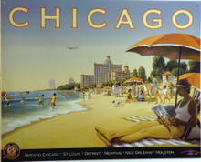 Photo of CHICAGO - CHICAGO & SOUTHERN AIRLINES RETRO GRAPHICS AND COLORS