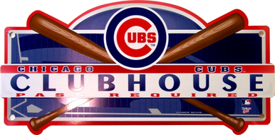 Photo of CHICAGO CUBS BASEBALL CLUBHOUSE SIGN, GREAT COLORS AND GRAPHICS