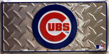 Photo of CHICAGO CUBS DIAMOND PLATE, LICENSE PLATE