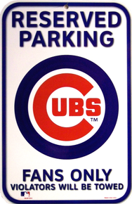 Photo of CHICAGO BASEBALL CUBS PARKING ONLY SIGN GREAT COLOR AND CONTRAST