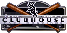 Photo of CHICAGO WHITE SOX BASEBALL CLUB HOUSE SIGN GREAT GRAPHICS AND COLOR