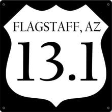 FLAGSTAFF, AZ MARATHON ENAMEL SIGN (FULLY  CUSTOMIZABLE) S/O