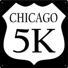 CHICAGO MARATHON SIGN ON 24 GAGUE STEEL WITH HIGH QUALITY ENAMEL FINISH (THESE SIGNS ARE FULLY CUSTOMIZABLE) S/O